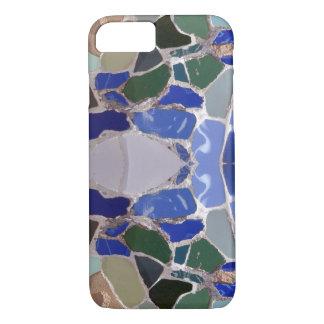 Capa iPhone 8/7 Mosaicos do azul de Antoni Gaudi