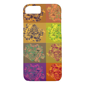 Capa iPhone 8/7 mosaicos em quadrados da cor