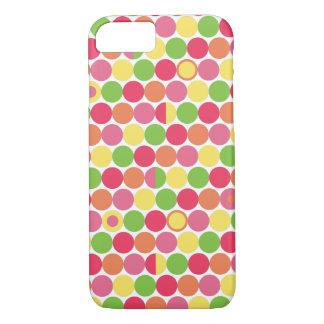 Capa iPhone 8/7 Multi bolinhas coloridas do divertimento
