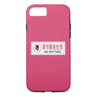 Capa iPhone 8/7 Nenhum esguicho, ônibus, sinal chinês
