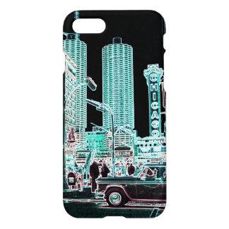 Capa iPhone 8/7 Néon da rua do estado da cidade 1963 do porto de
