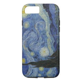 Capa iPhone 8/7 Noite estrelado de Van Gogh do vintage