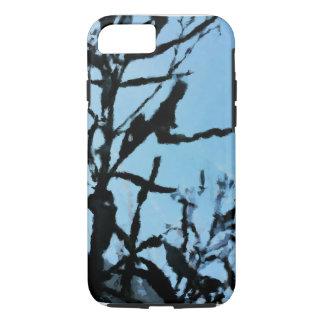 Capa iPhone 8/7 Noite preta e azul