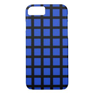 Capa iPhone 8/7 O azul verificou a ação no caso do iPhone 7 mal lá