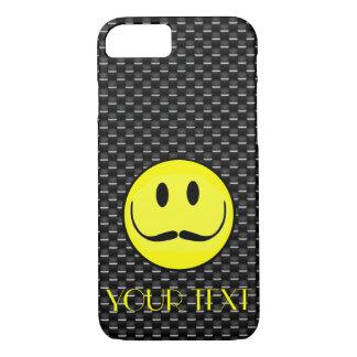 CAPA iPhone 8/7 O MODELO DO CARBONO DO SMILEY FACE PERSONALIZA