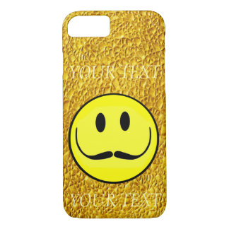 CAPA iPhone 8/7 O MODELO DO OURO DO SMILEY FACE PERSONALIZA