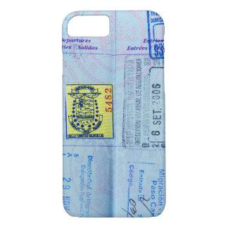 Capa iPhone 8/7 O passaporte carimba o close up