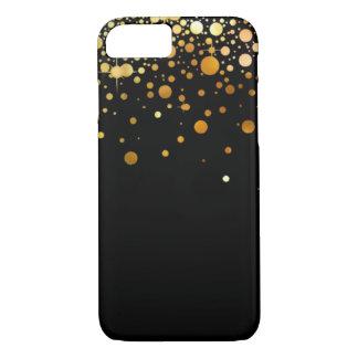 Capa iPhone 8/7 O preto e o brilho do ouro foil o caso do iPhone 7