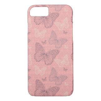 Capa iPhone 8/7 O rosa da borboleta