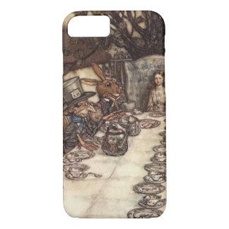 Capa iPhone 8/7 O tea party louco do Hatter por Arthur Rackham