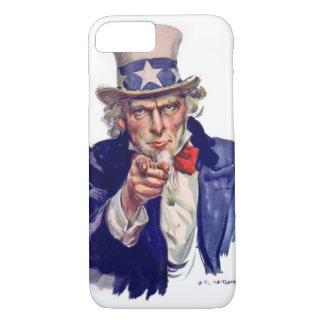 Capa iPhone 8/7 O tio Sam quê-lo votar