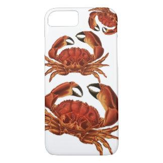 Capa iPhone 8/7 O vermelho do vintage Crabs Pinchers crustáceos do