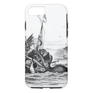 Capa iPhone 8/7 O vintage náutico do polvo do steampunk kraken o