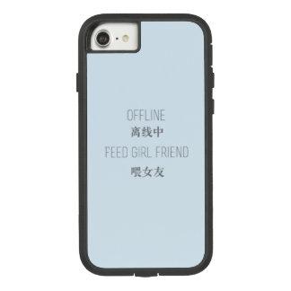 Capa iPhone 8/7 off line, namorada da alimentação