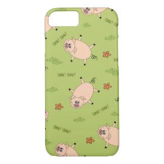 Capa iPhone 8/7 Oink teste padrão do porco