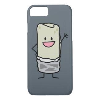 Capa iPhone 8/7 Olá! de ondulação do Burrito feliz