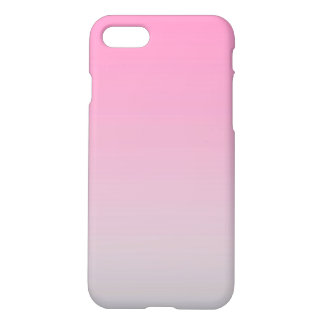 Capa iPhone 8/7 Ombre cor-de-rosa & cinzento