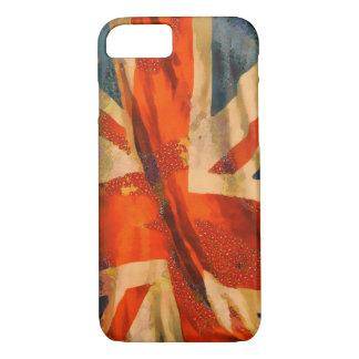 Capa iPhone 8/7 Ondulação britânica da bandeira de Union Jack do