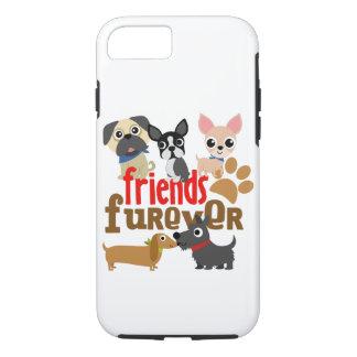 Capa iPhone 8/7 Os amigos Furever perseguem filhotes de cachorro