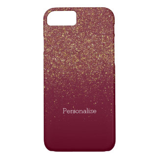 Capa iPhone 8/7 Ouro e brilho do falso dos Sparkles do rosa