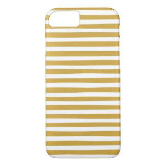 Capa iPhone 8/7 ouro e listras brancas