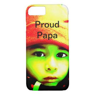 Capa iPhone 8/7 Papá orgulhosa com foto da criança