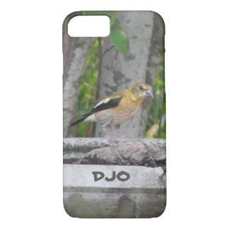 Capa iPhone 8/7 Pássaro de vista irritado com suas iniciais