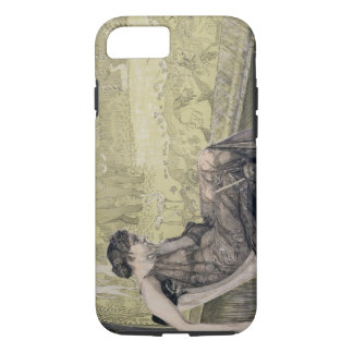 Capa iPhone 8/7 Penélope que tece uma saia para Laertes seu pai-eu