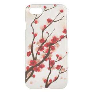 Capa iPhone 8/7 Pintura oriental do estilo, flor da ameixa no