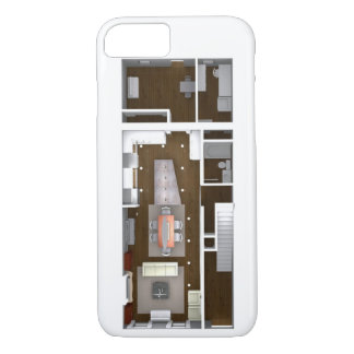 Capa iPhone 8/7 Planta baixa rendida arquitectónica