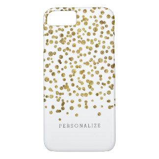 Capa iPhone 8/7 Pontos Glam dos confetes do ouro