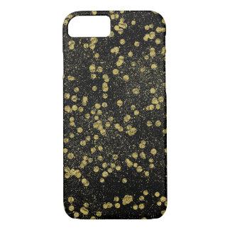 Capa iPhone 8/7 Pontos Glittery dos confetes da faísca do ouro