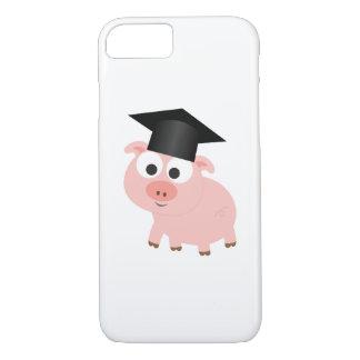 Capa iPhone 8/7 Porco bonito da graduação