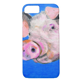 Capa iPhone 8/7 Porco cor-de-rosa