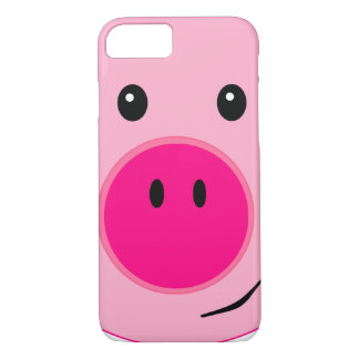Capa iPhone 8/7 Porco cor-de-rosa bonito