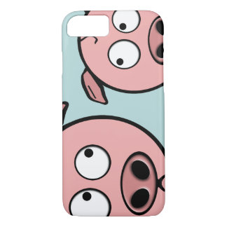 Capa iPhone 8/7 Porcos curiosos bonitos