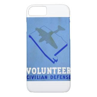 Capa iPhone 8/7 Poster civil voluntário de WPA da defesa do