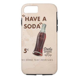 Capa iPhone 8/7 Poster da soda do vintage