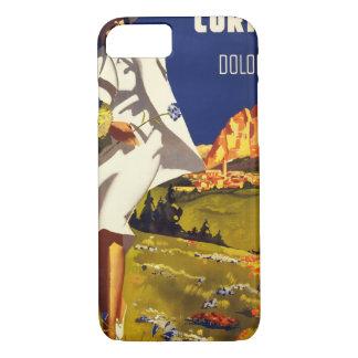 Capa iPhone 8/7 Poster vintage de Dolomiti Italia da cortina