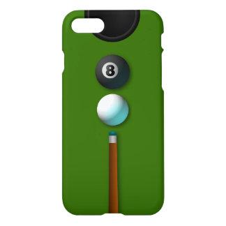 Capa iPhone 8/7 Pote legal os 8 ou oito bilhar Zazzle da piscina