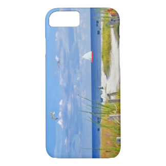 Capa iPhone 8/7 Praia, beira-mar, e pássaros, customizáveis