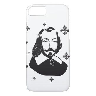 Capa iPhone 8/7 Quebeque Samuel de Champlain 1608 Flor de lys