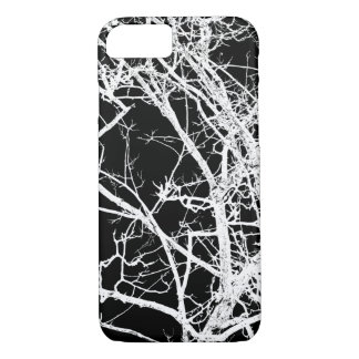 Capa iPhone 8/7 Ramos de árvore no fundo preto