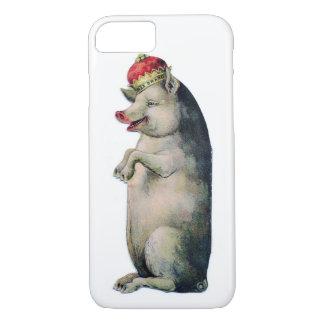 Capa iPhone 8/7 Rei Vintage Porco dos suínos