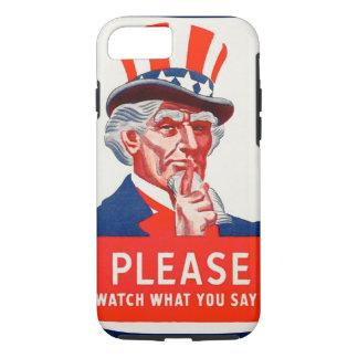 Capa iPhone 8/7 Relógio do tio Sam o que você diz o caso