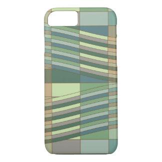 Capa iPhone 8/7 Retângulos ondulados das cores naturais
