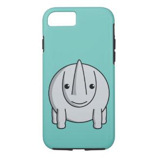 Capa iPhone 8/7 Rinoceronte de Kawaii