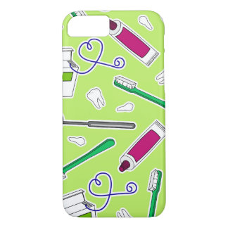 Capa iPhone 8/7 Roxo do verde do amor do dentista