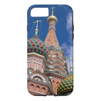Capa iPhone 8/7 Rússia, Moscovo, quadrado vermelho. St. Manjericão