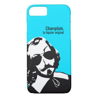 Capa iPhone 8/7 Samuel Champlain Hipster texto do futuro+lunetas